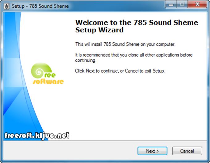 785 Sound Scheme