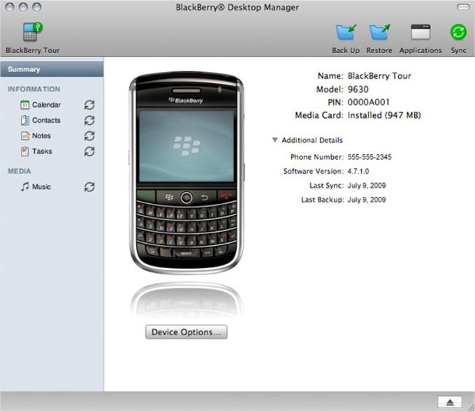 BlackBerry Desktop Software