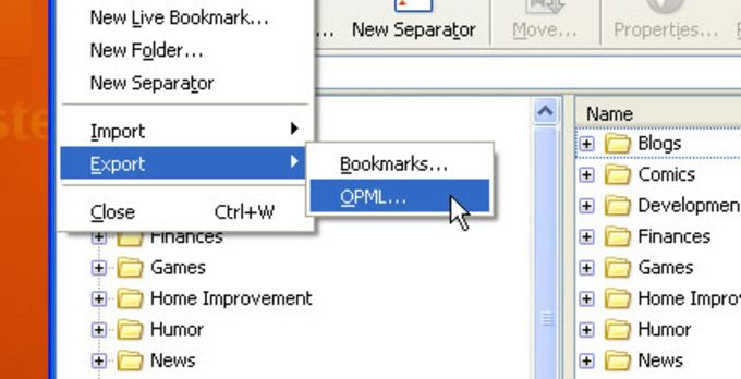 OPML Support extension