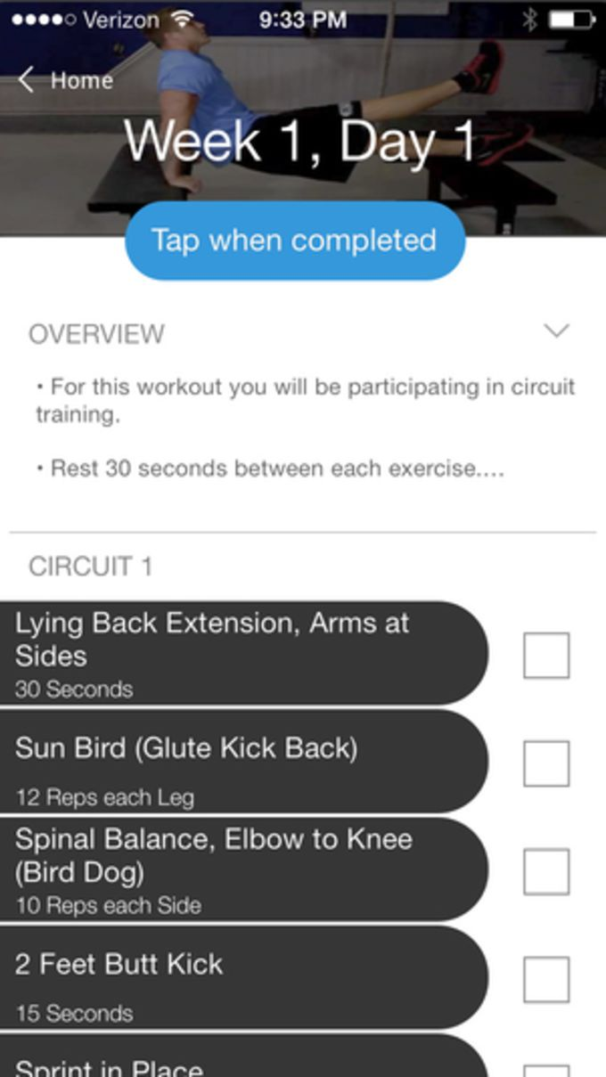 Home Exercise Program - Bodyweight Workouts