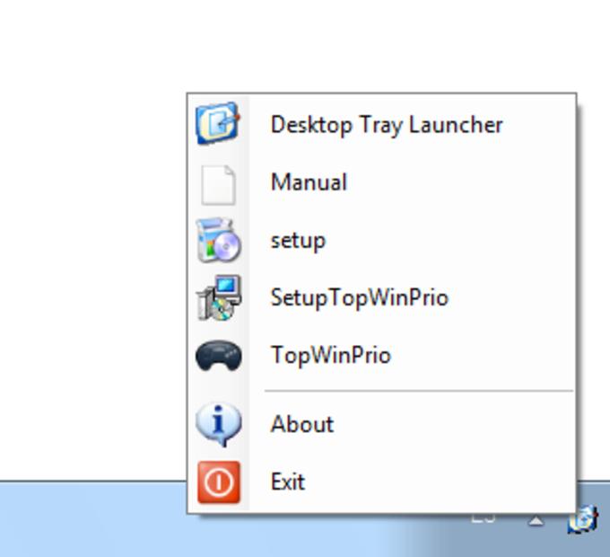 Desktop Tray Launcher