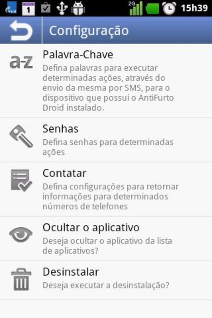Anti Furto Droid SMS
