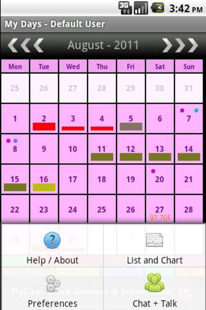 My Days - Period and Ovulation