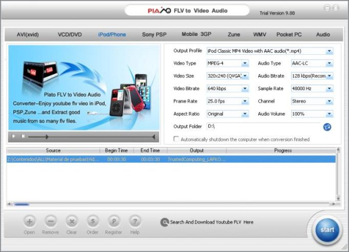 Plato FLV to Video Audio Converter