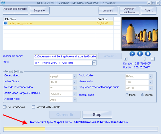 "Step 1. Import Video Files. Click on ""Add Video…"" to conveniently import as many videos as you wish and some detailed information of the videos can be viewed. You can use the buttons of ""Move Up"" & ""Move Down"" to arrange the files in order. Click ""Delete"" to remove the unwanted ones from the list while ""Clear"" to remove all. If you want to have a preview on the videos ..."