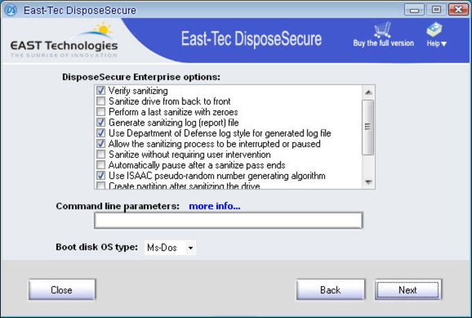 east-tec DisposeSecure