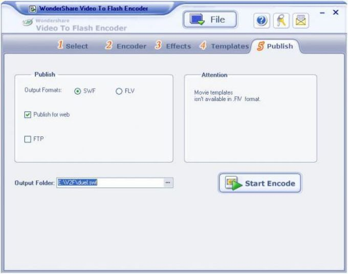 Video to Flash Encoder