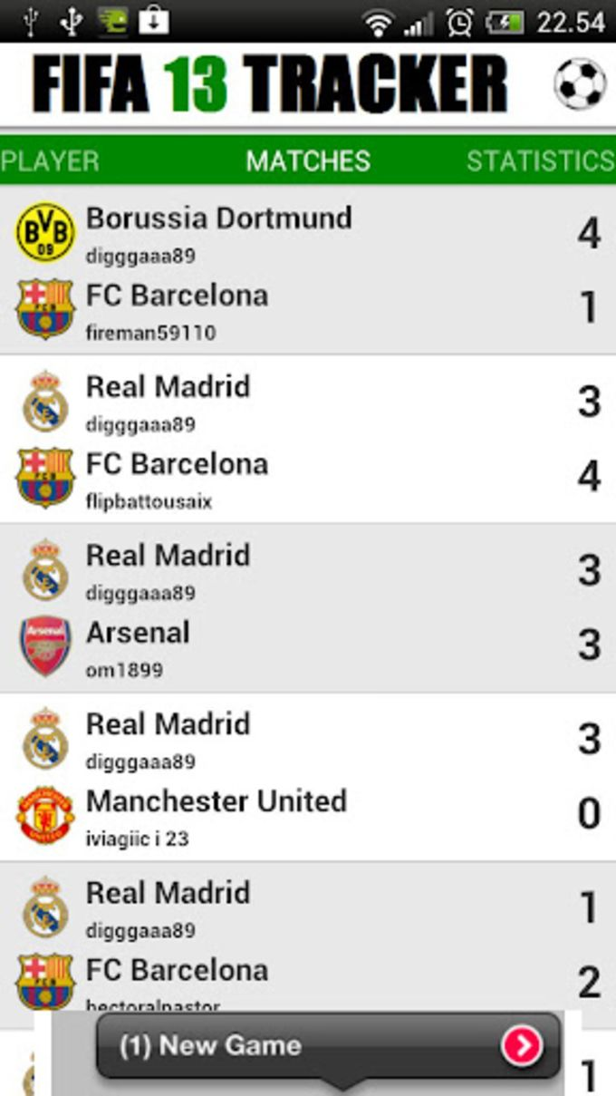 FIFA 13 Tracker