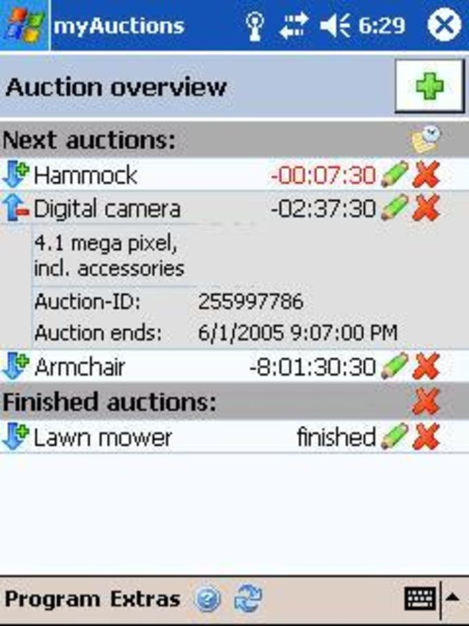 myAuctions