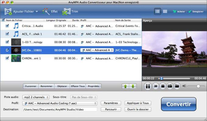 AnyMP4 Audio Converter for Mac