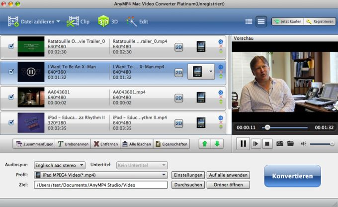AnyMP4 Mac Video Konverter Platinum