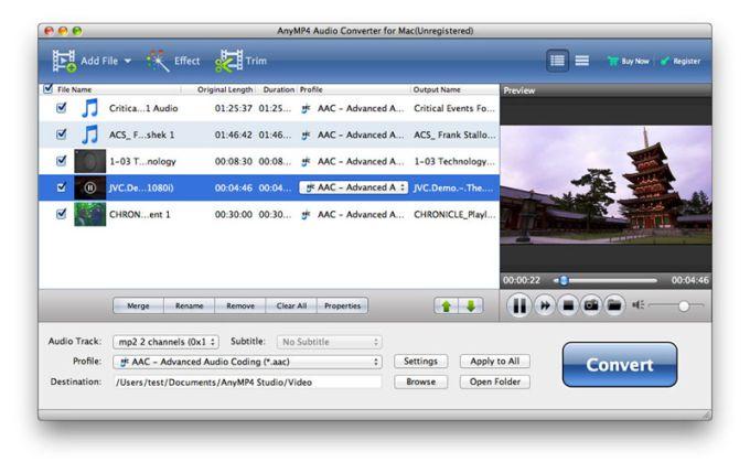 AnyMP4 MP3 Converter for Mac