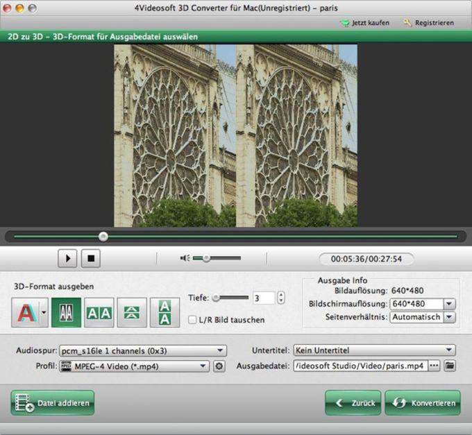 4Videosoft 3D Converter für Mac