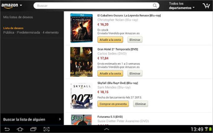 Amazon pour Tablettes