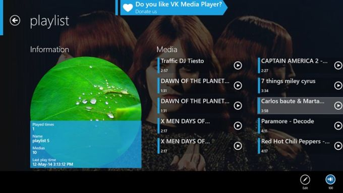 VK Media Player for Windows 10