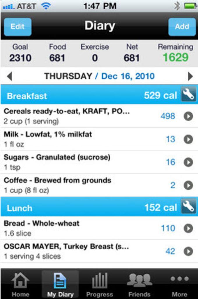 Contatore calorie e Gestione dieta - MyFitnessPal