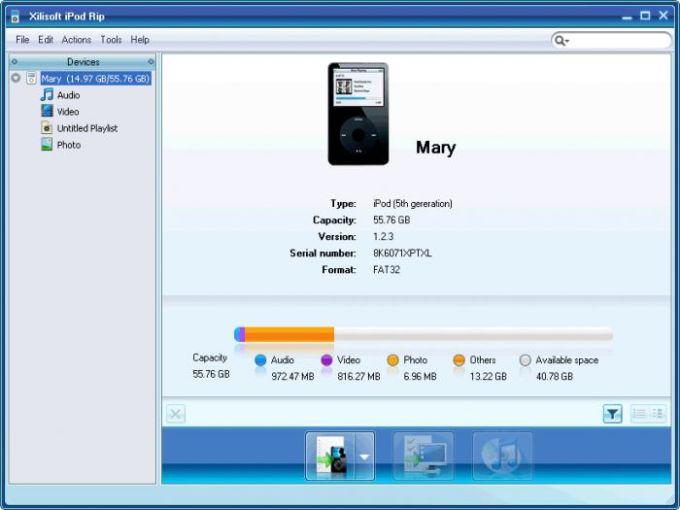 Xilisoft iPod Rip