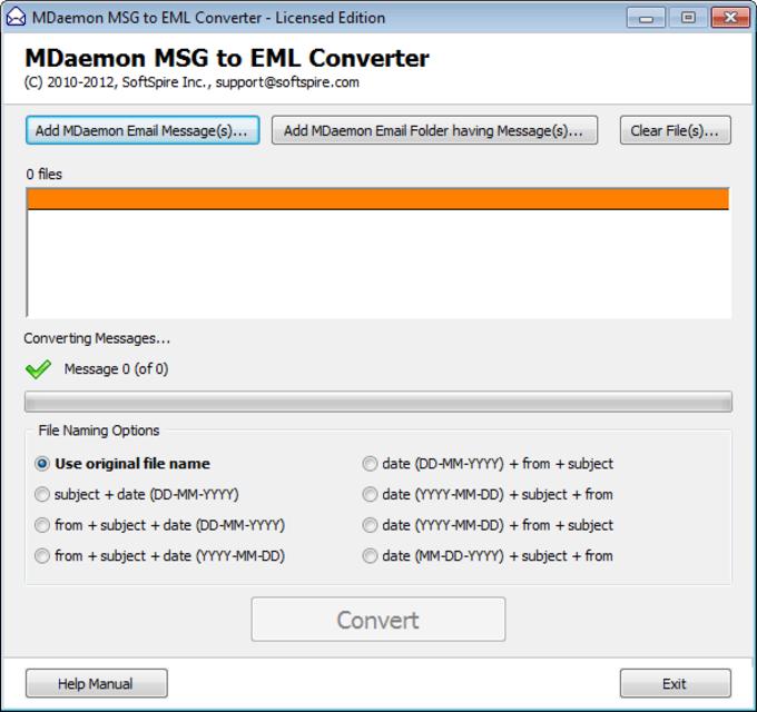 MDaemon MSG to EML Converter