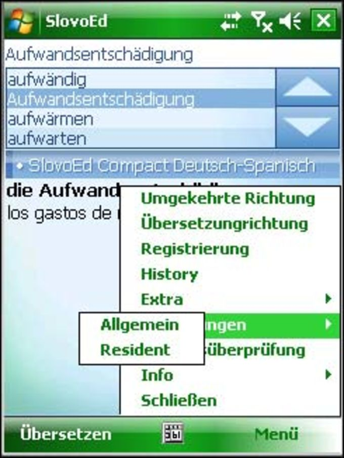 SlovoEd Compact German-Spanish, Spanish-German dictionary