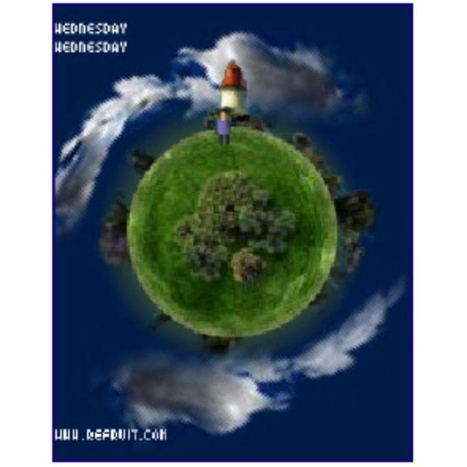 Earth Clock Screensaver
