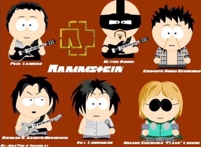 Fond d'écran Rammstein style South Park