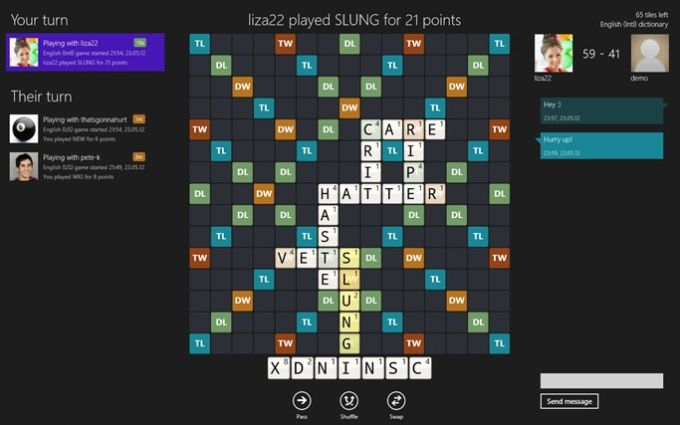 Wordfeud voor Windows 10