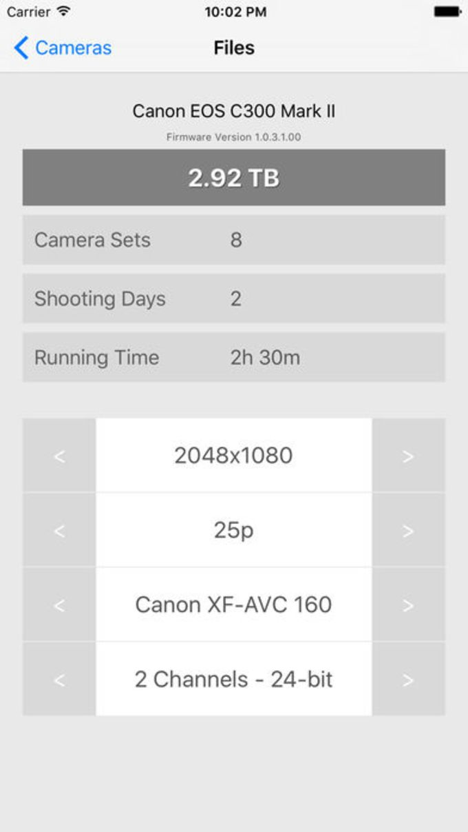 Camera Files