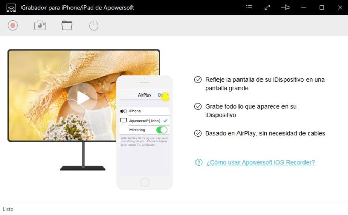 Grabador de Apowersoft para iPhone/iPad