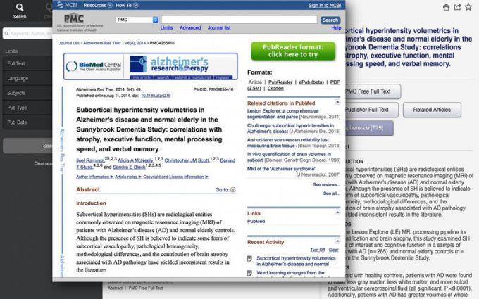 Unbound MEDLINE - PubMed, Journals, and Grapherence