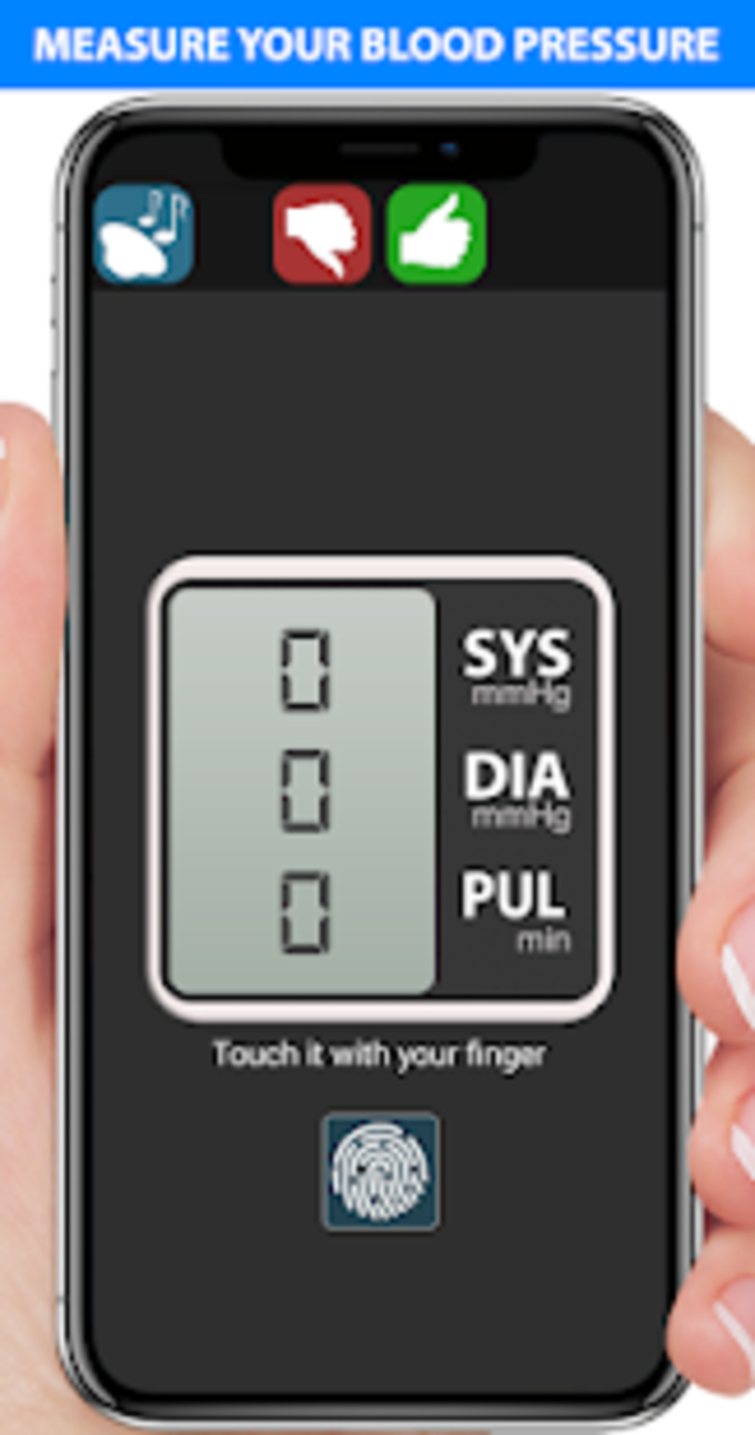 Blood Pressure Fingerprint Scanner