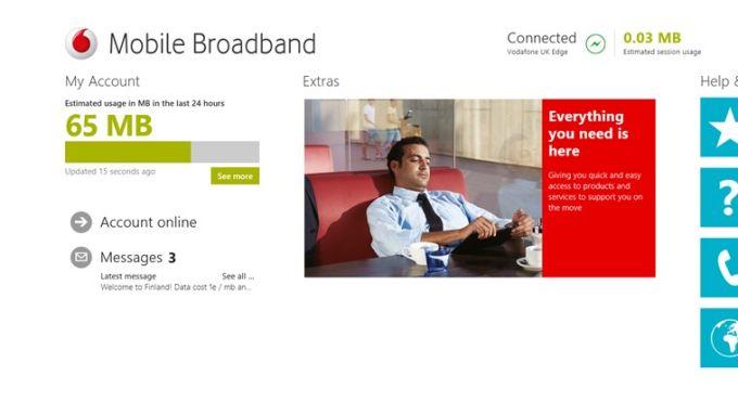 Vodafone Mobile Broadband pour Windows 10