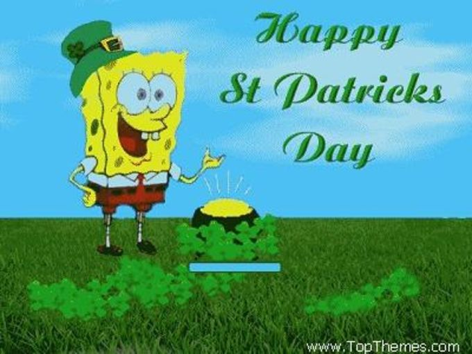 Sponge Bobs Happy St. Patrick's Day theme