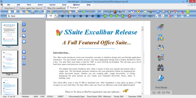 Download ssuite office excalibur release free latest version - Free office suite for windows ...