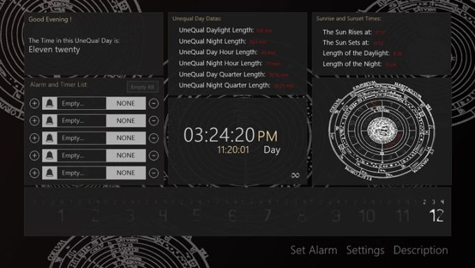 UneQual Hours Clock for Windows 10