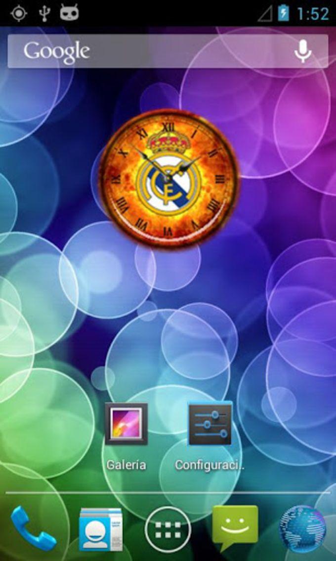 Real Madrid FC Reloj Widget