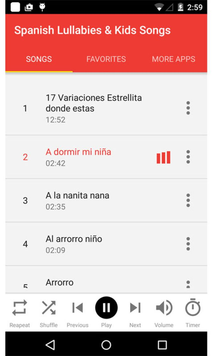 Spanish Lullabies and Kids Songs