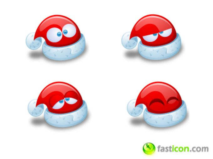 Santa Claus Hat Icons