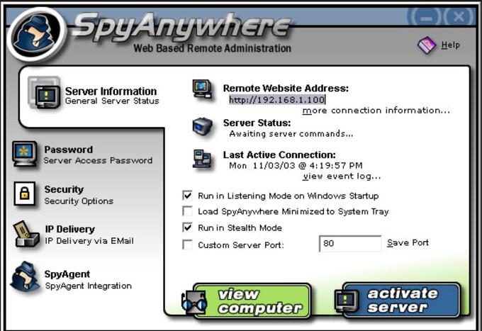 SpyAgent/SpyAnywhere Suite