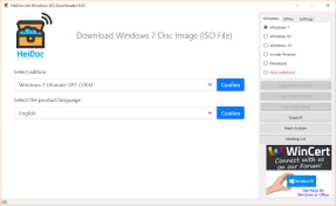 Windows ISO Downloder