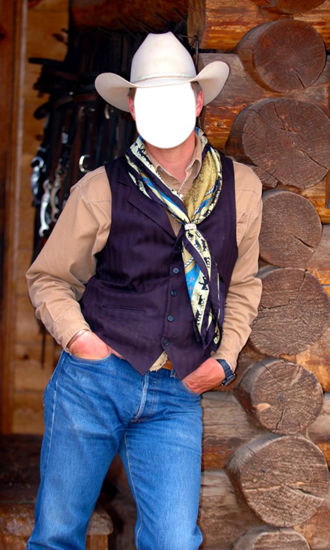 Cowboy Photo Montage