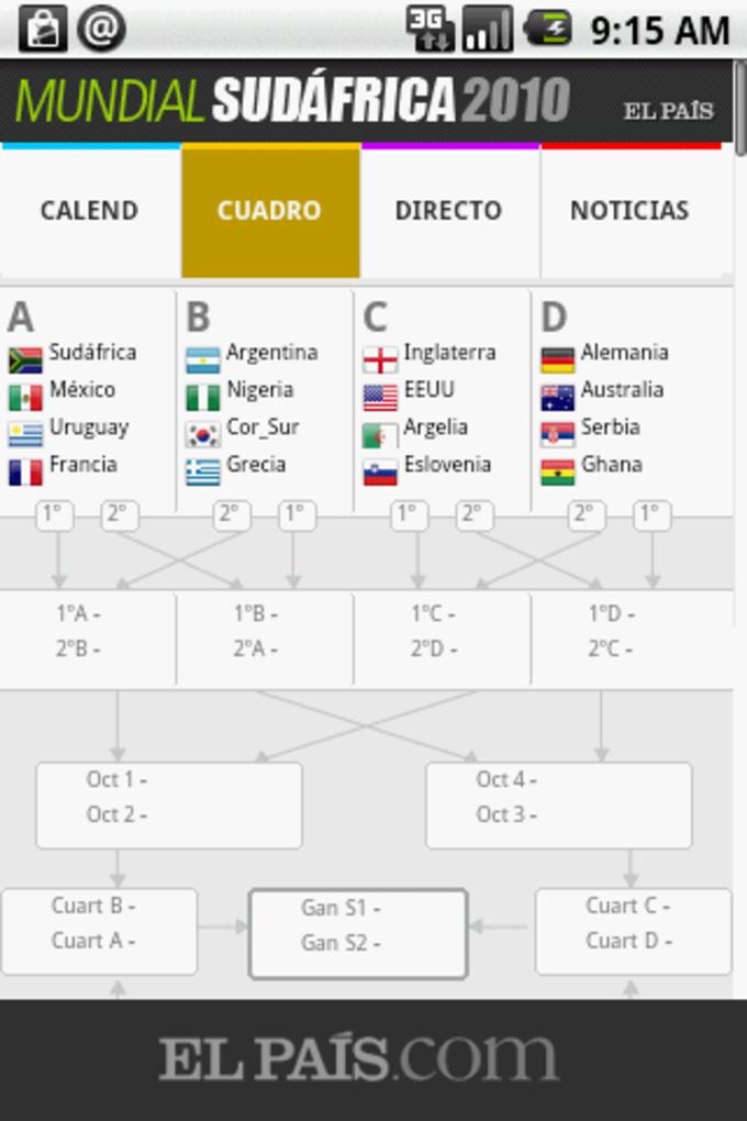 Mundial Sudáfrica en El País