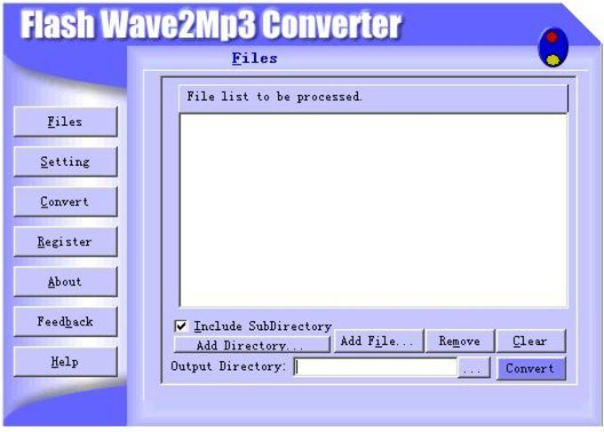 Flash Wav To Mp3 Converter