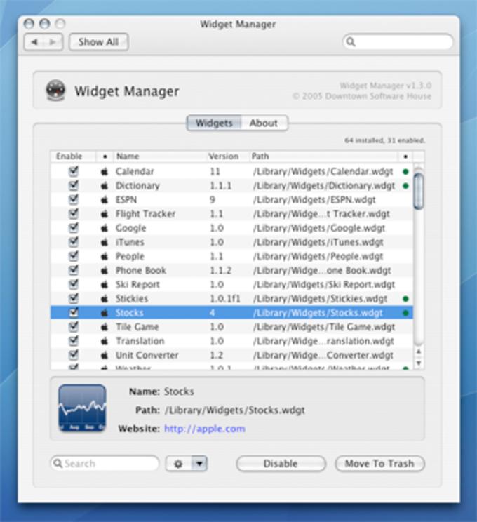 Widget Manager