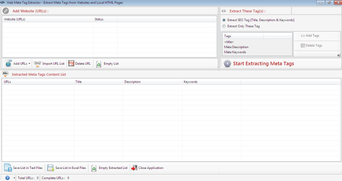Web Meta Tag Extractor