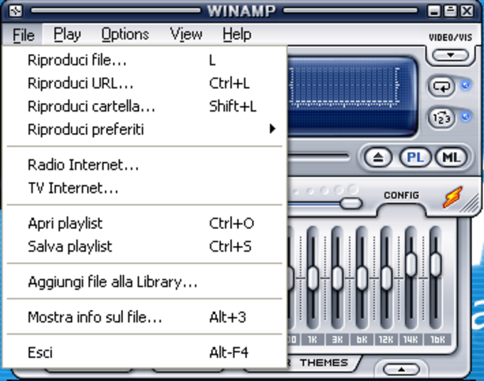 Language Pack italiano per Winamp 5