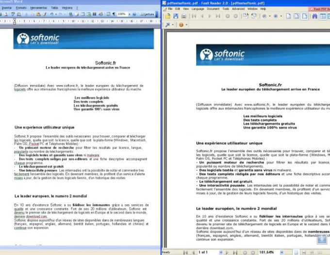 Conversion du document