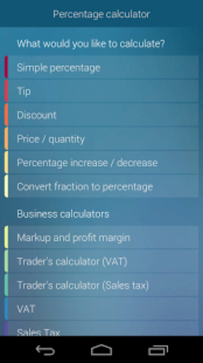 free app for accountants percentage calculator