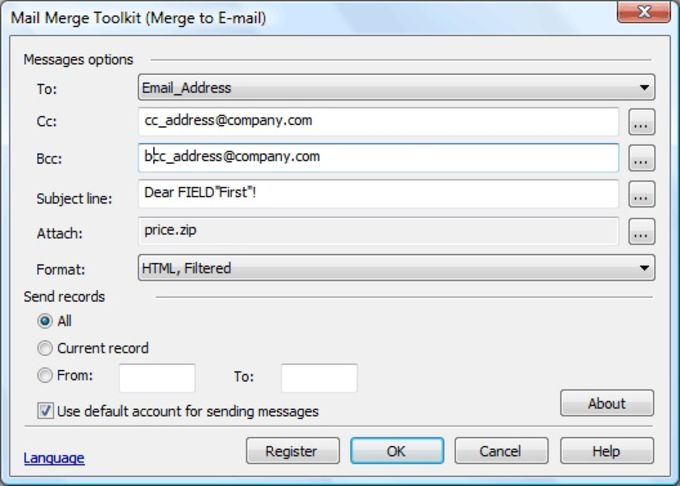 Mail Merge Toolkit