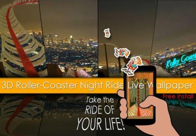 Noche RollerCoaster Ride en 3D