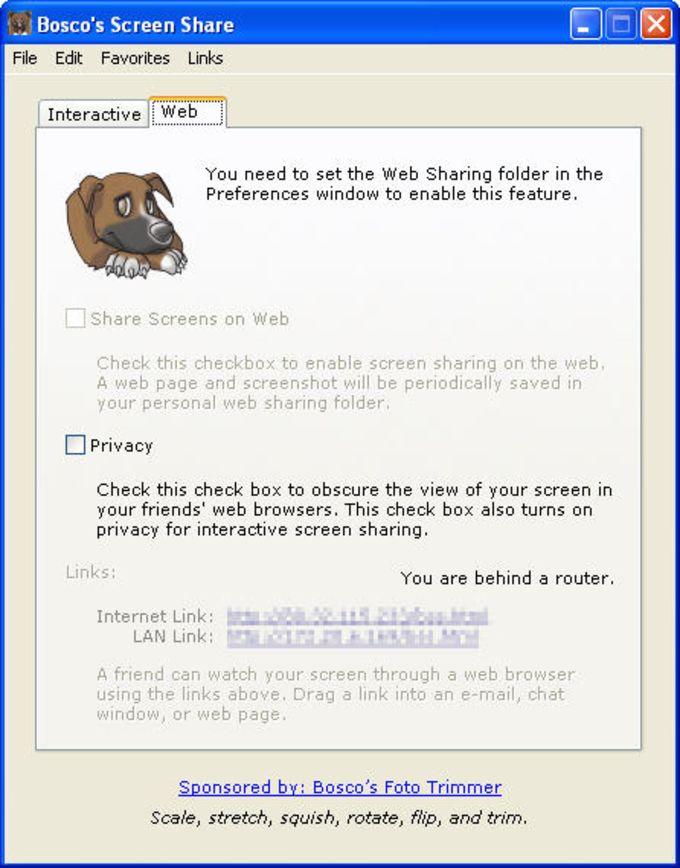 Bosco's Screen Share
